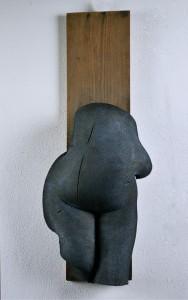ventre_2013_gommapiuma_patinata_e_legno__coated_foam_and_wood_90x25x16_cm