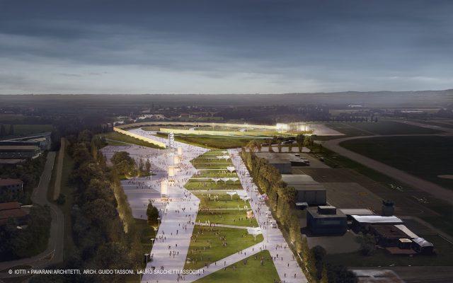 Proseguono i lavori di costruzione della futura RCF Arena